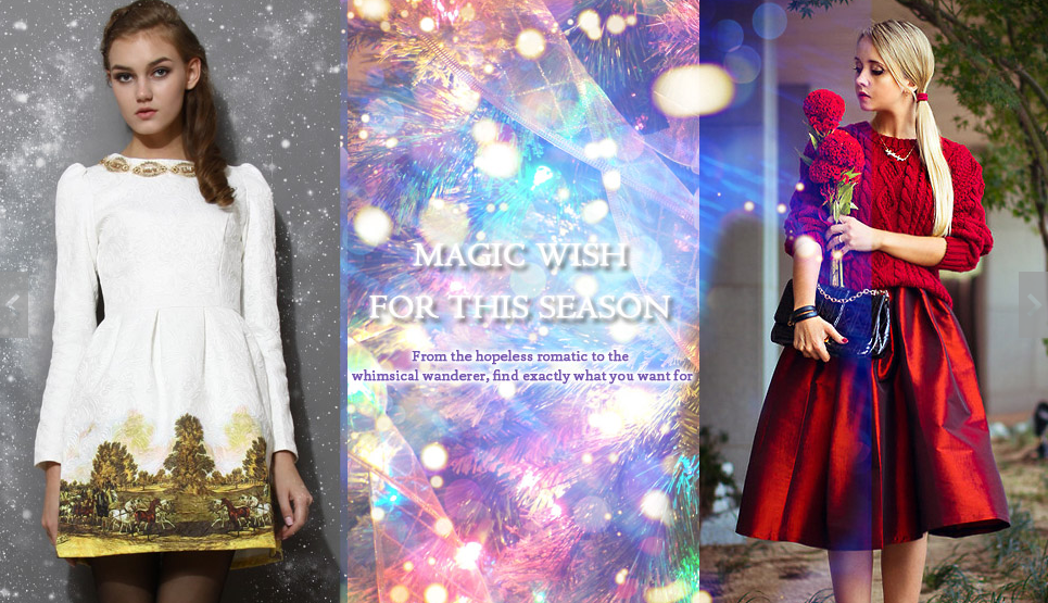 chicwish christmas hollidays campaign 2013