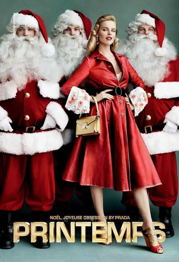 christmas EVA-HERZIGOVA-FOR-PRINTEMPS-CHRISTMAS-20131